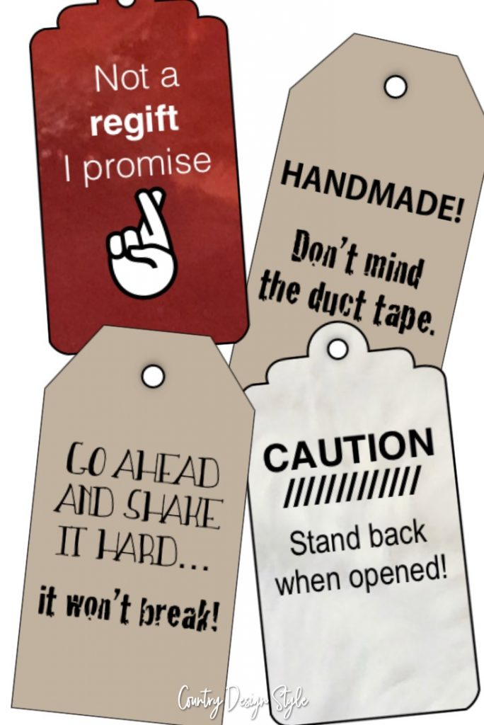 Printable gift tags - Country Design Style