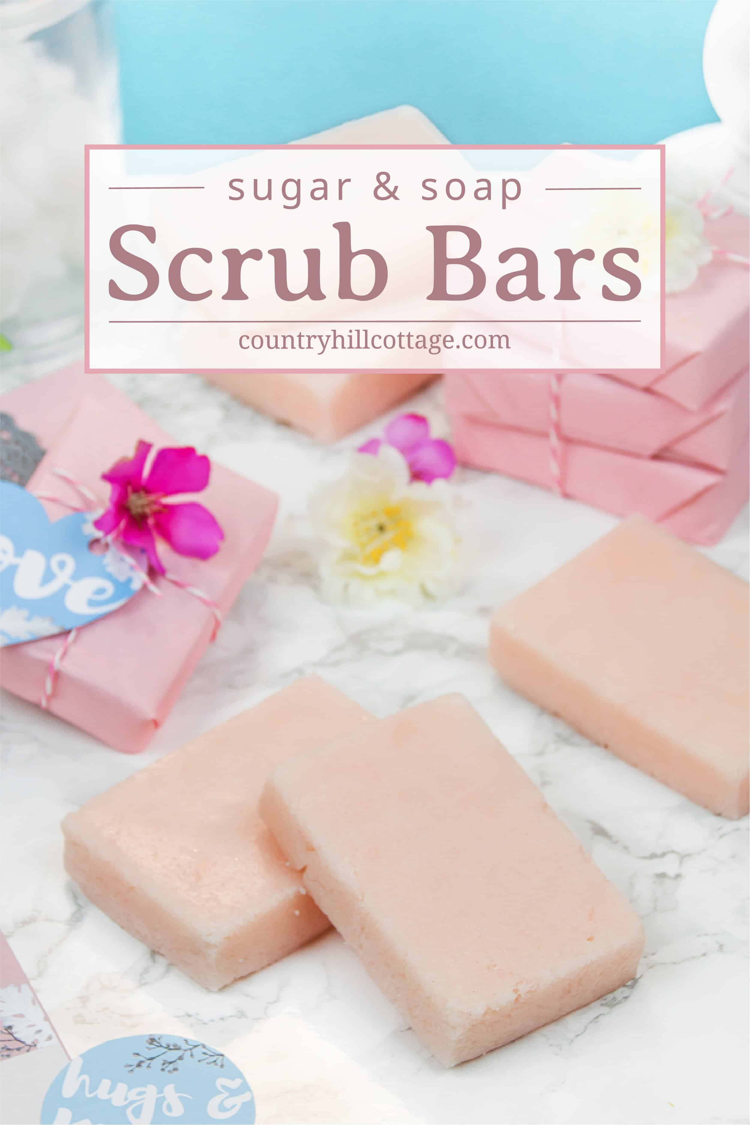 Diy Soap Essential Oils Sugar Soap Scrub Bars With Essential Oils Country Hill Cottage