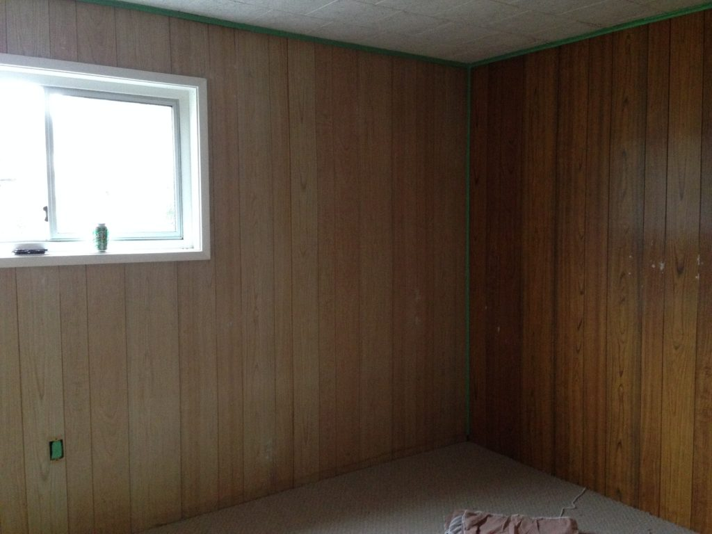 What Color To Paint Paneling How To Paint Wood Paneling Country Living In A Cariboo Valley