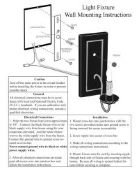 Electric Wall Sconce Assembly & Installation Guide