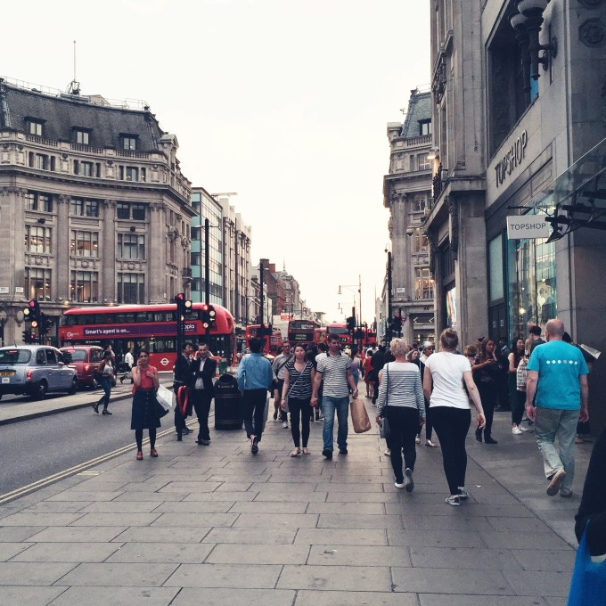 Oxford Street London. July 2015