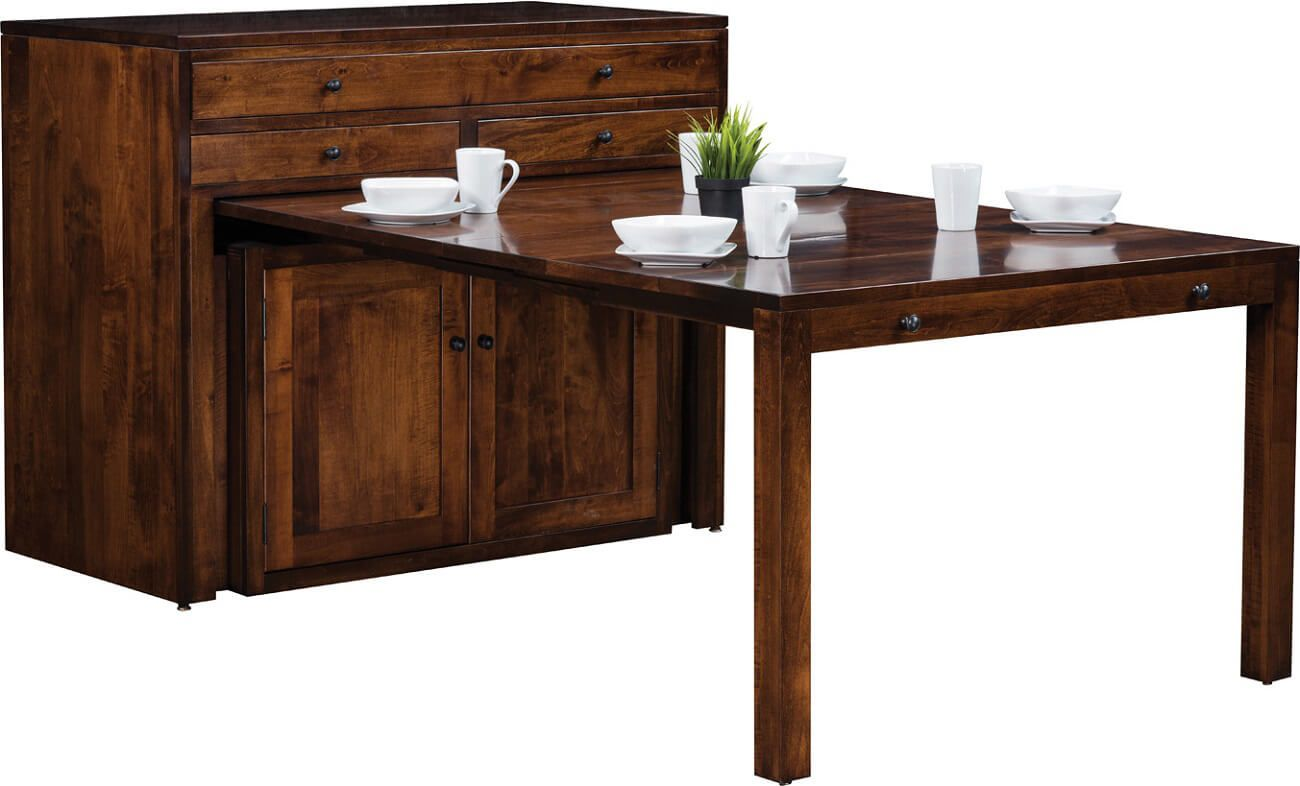 Table Retractable Console Chinaski Pullout Console Table Countryside Amish Furniture