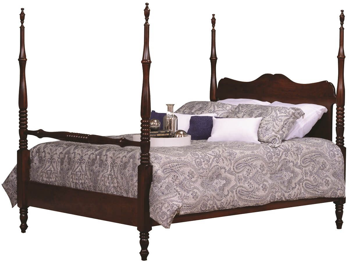 Wood Four Poster Beds Warsaw Wooden Four Poster Bed Countryside Amish Furniture