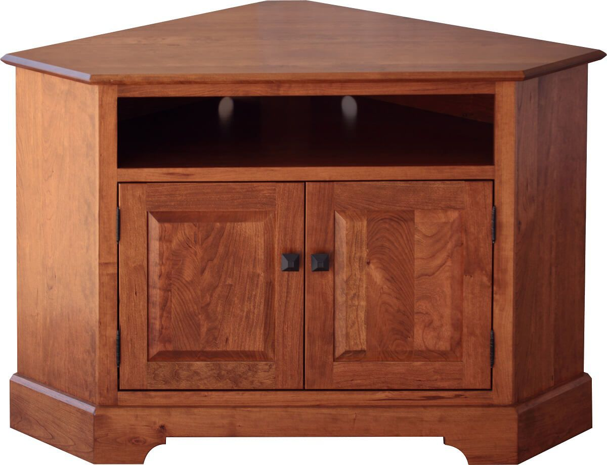 Farmhouse Corner Tv Stand Plans Peyton Cherry Corner Tv Console Countryside Amish Furniture