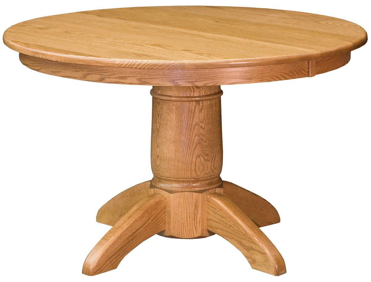 Round Oak Dining Table Harpers Ferry Round Oak Dining Table Countryside Amish Furniture