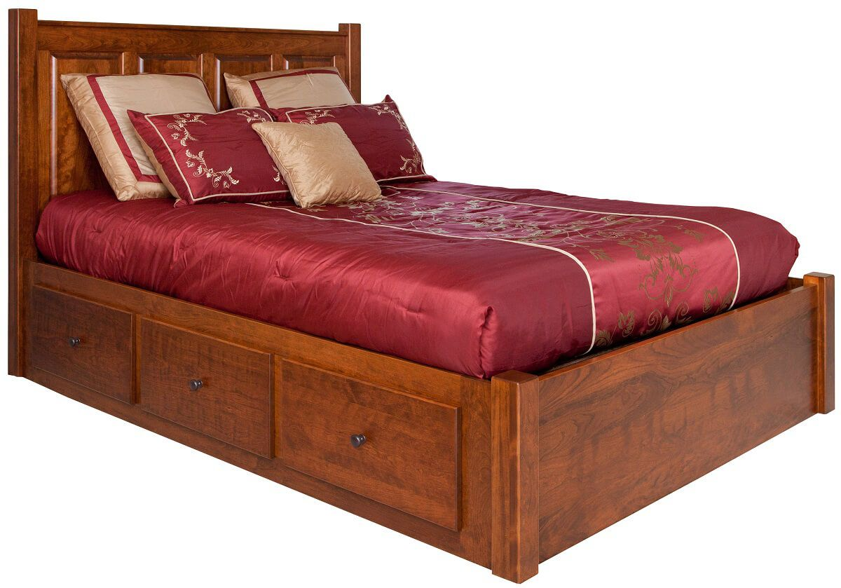 Huntington Bedroom Furniture Huntington Storage Bed Countryside Amish Furniture
