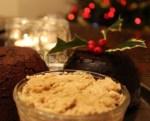 Коньячное масло (масло с бренди) и английский рождественский сливовый пудинг