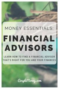 FINANCIAL ADVISORS BEHAVIOR GAP COUPLE MONEY