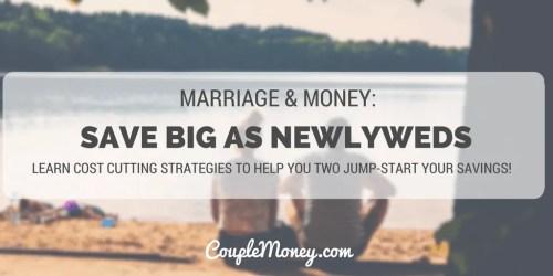 SAVE BIG AS NEWLYWEDS couple money podcast
