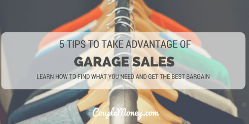 garage sale tips couple money