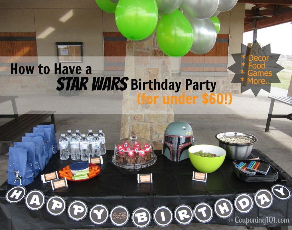 Star Wars Cooking Supplies How To Have A Star Wars Birthday Party For Under 60