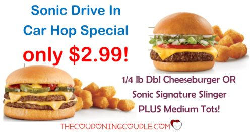 Sonic Drive In Special Deal