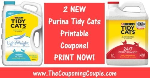 2 NEW Purina Tidy Cats Printable Coupons ~ PRINT NOW!