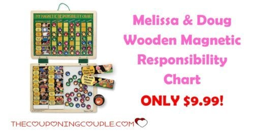 Melissa  Doug Wooden Magnetic Responsibility Chart ONLY $999!