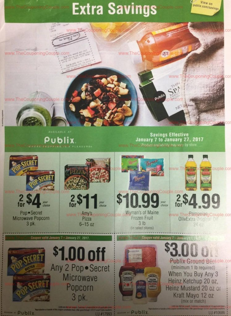 Publix Green Grocery Flyer Scan for 1-7 to 1-27-17
