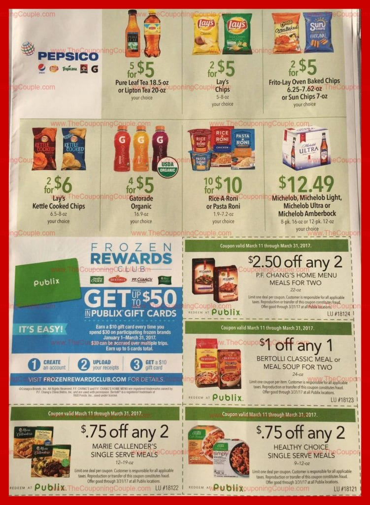 Publix Green Grocery Flyer Scan for 3-11 to 3-31-17