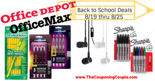 Office Depot OfficeMax Back to School Deals for 8-19 to 8-25-18!