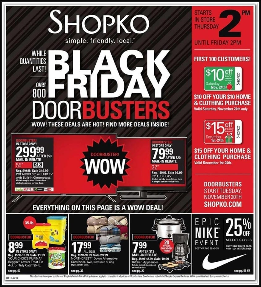 Shopko Black Friday Ad 2018 Browse All 64 Pages