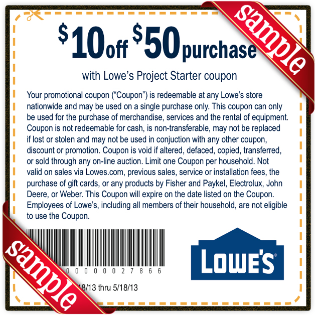 Printable Lowes Coupon 20 Off \10 Off Codes December 2016 - coupon disclaimer examples