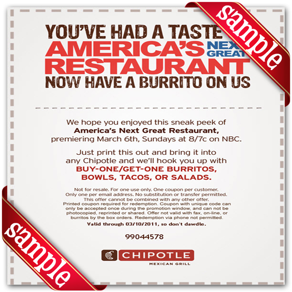 Chipotle Mexican Grill Chipotle Mexican Grill Printable Coupon May 2019