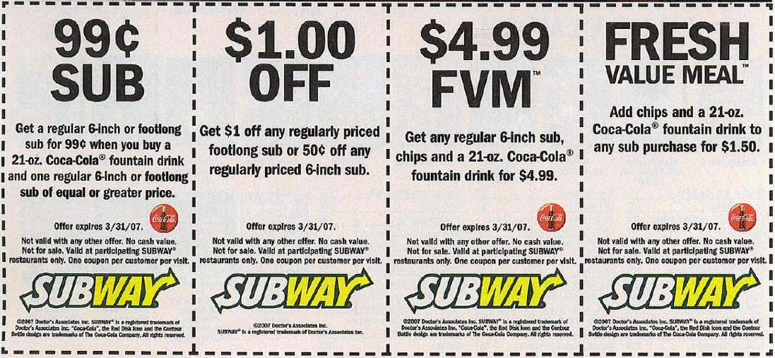 Subway Coupons Coupon Codes Blog