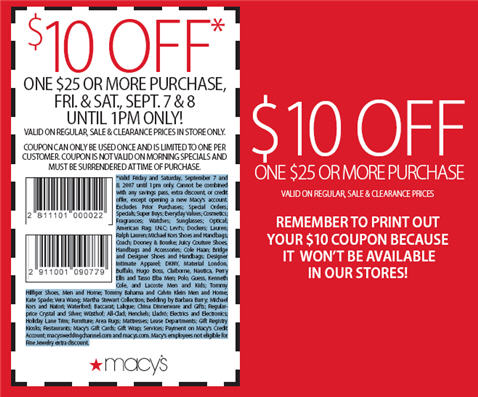Macys Coupons and Sales Coupon Codes Blog - coupon disclaimer examples