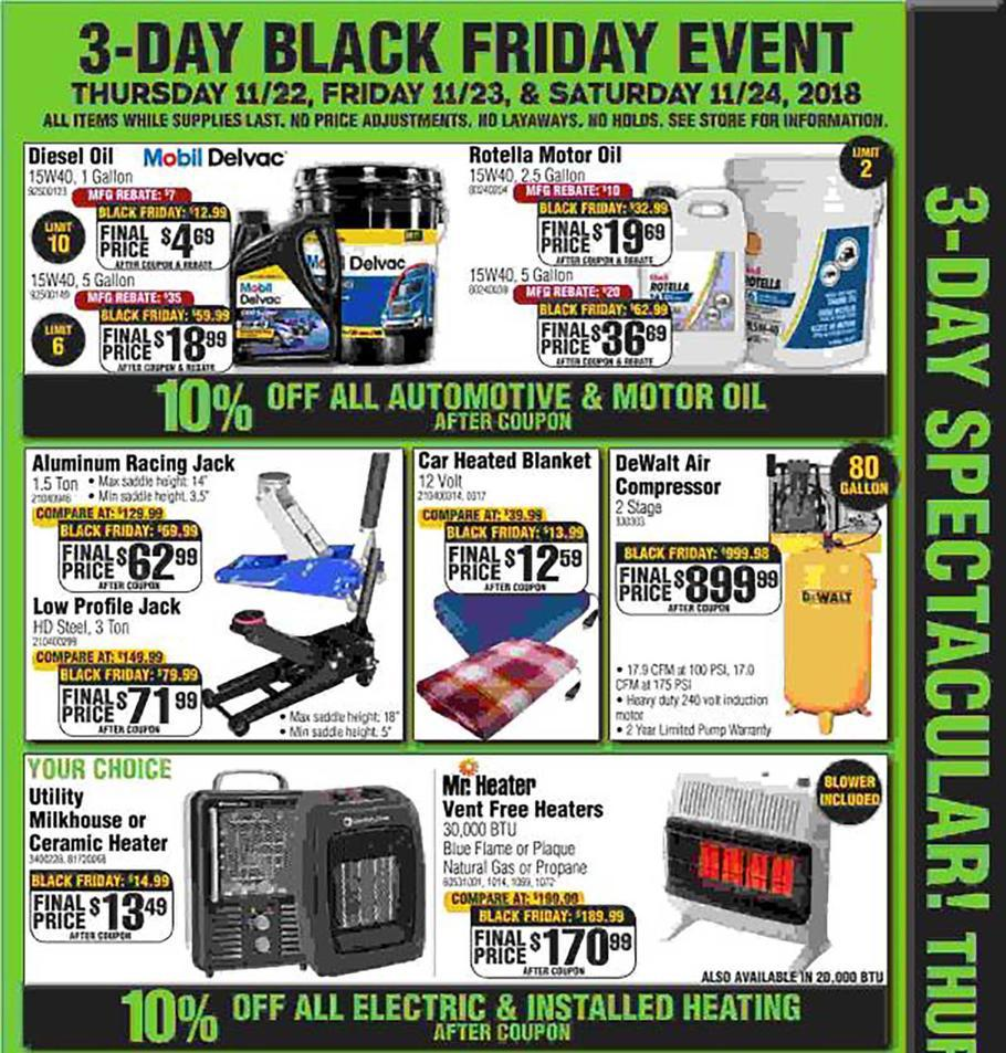 Electric Garage Heater Black Friday Rural King Black Friday Ads Sales Deals Doorbusters 2018