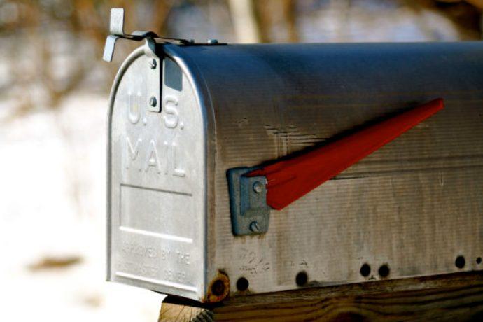 U.S. Mail mailbox