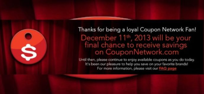 Coupon Network closes
