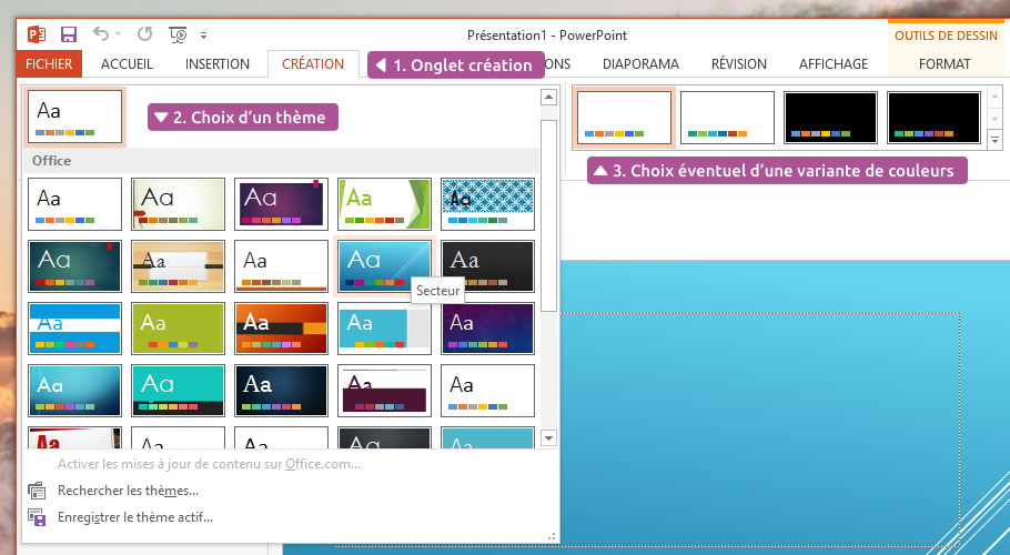 PowerPoint - Créer ma première présentation \u2014 Xyoos