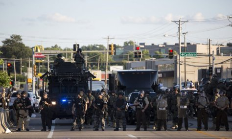Ferguson protest police presence