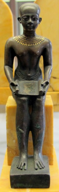 Ancient Statue of Imhotep, Louvre Museum