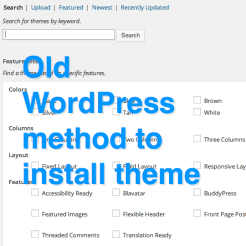 WordPress 3.8 install theme
