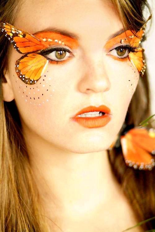 butterfly women\u0027s face make-up Fairy\u0027s Beauty Tips Pinterest - womens halloween ideas