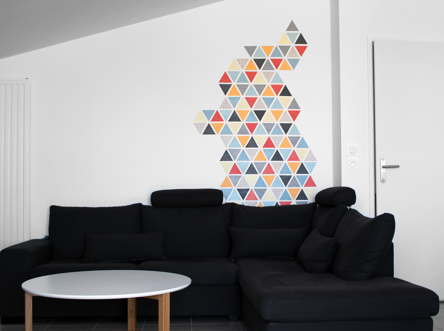 Peinture Style Scandinave Diy Petits Triangles Scandinaves Couture Addicted