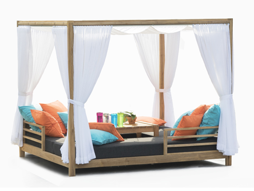 Outdoor Daybed With Ottoman Modern Teak Daybed Curtain Barn Style Contract Hotels Pool