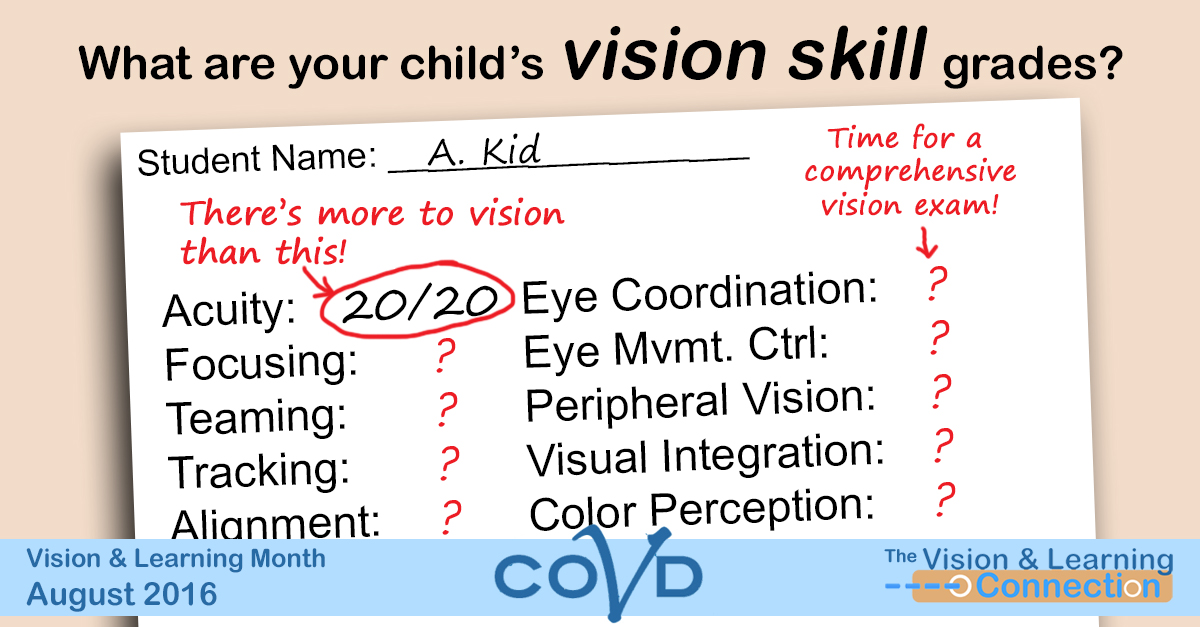 Getting my report card (for my vision) – Adult VT, Week 10