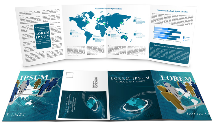 Double Gate Fold Brochure Mockup Cover Actions Premium Mockup - gate fold brochure mockup