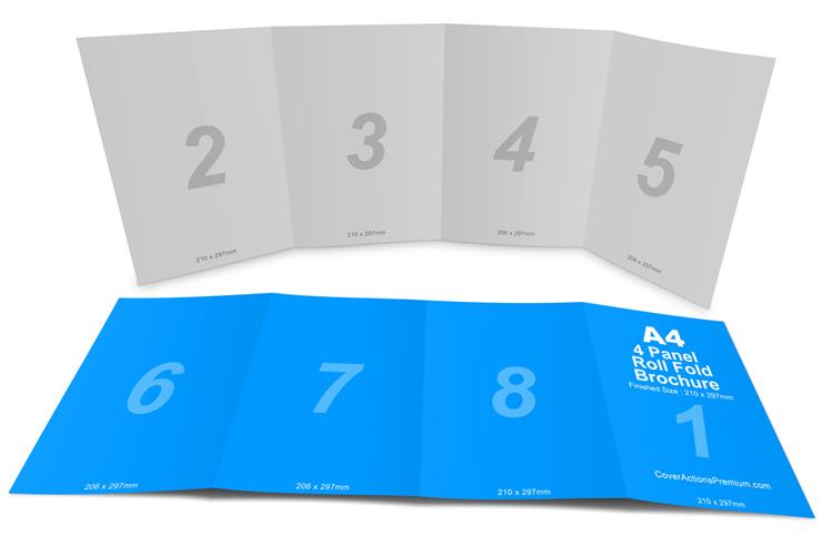 Doc#800600 Gate Fold Brochure Mockup u2013 A4 Gatefold Brochure - gate fold brochure mockup