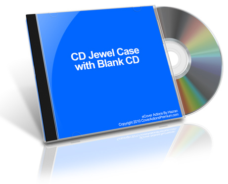 Tilt CD Jewel Case With Blank CD action script Cover Actions