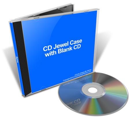 CD Jewel Case Mock Ups Cover Actions Premium Mockup PSD Template