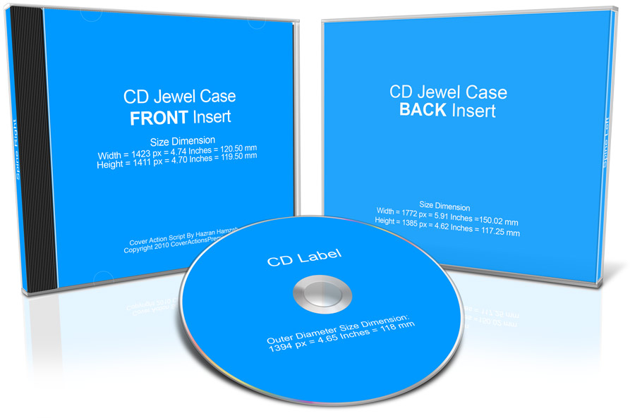 CD Jewel Case Mockup Action Cover Actions Premium Mockup PSD