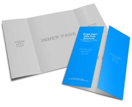 11x17 Gate Fold Brochure Mockup Cover Actions Premium Mockup - gate fold brochure mockup