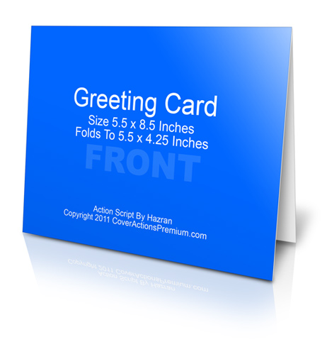 A2 Size Half Fold Greeting Card Cover Actions Cover Actions