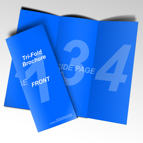 85 x 11 Tri Fold Brochure Mockup Cover Actions Premium Mockup