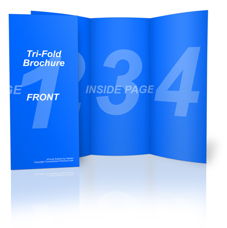 Letter Size Tri Fold Brochure Action Script Set Cover Actions