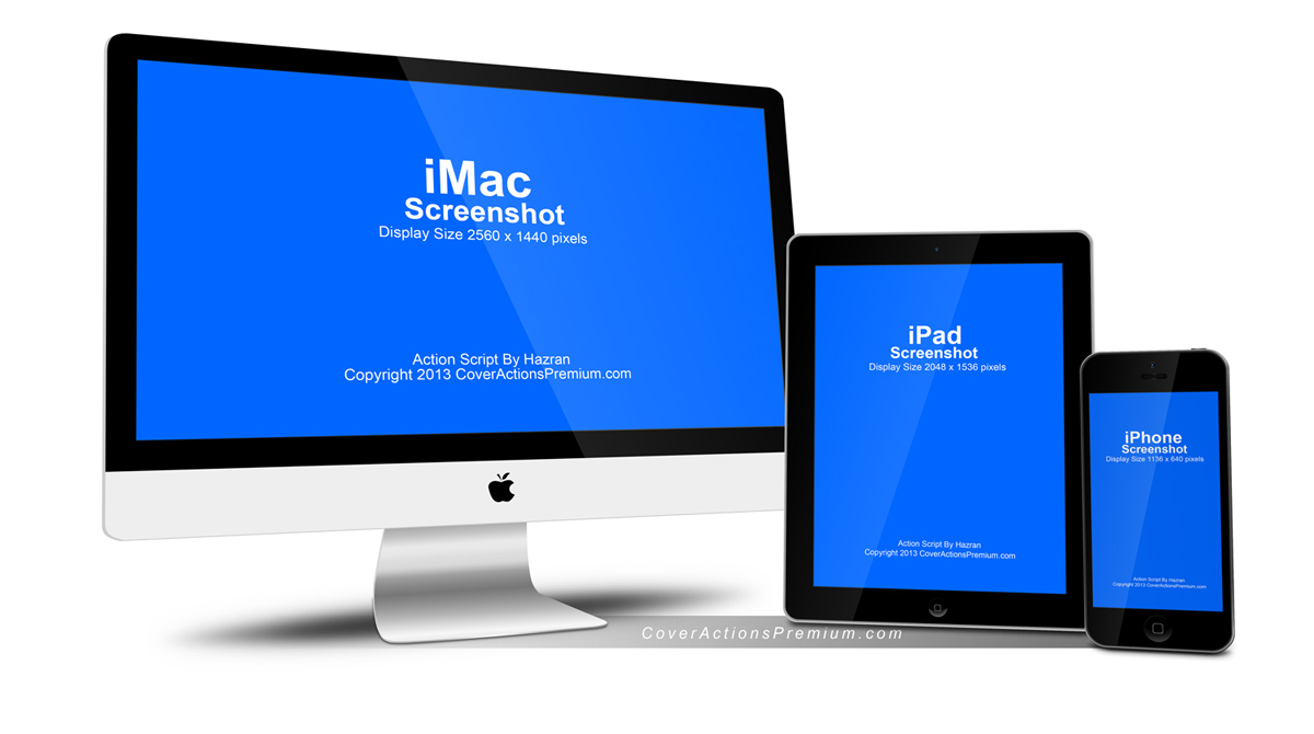 Mockup Iphone And Ipad Apple Imac, Iphone, Ipad Mock Up | Cover Actions Premium