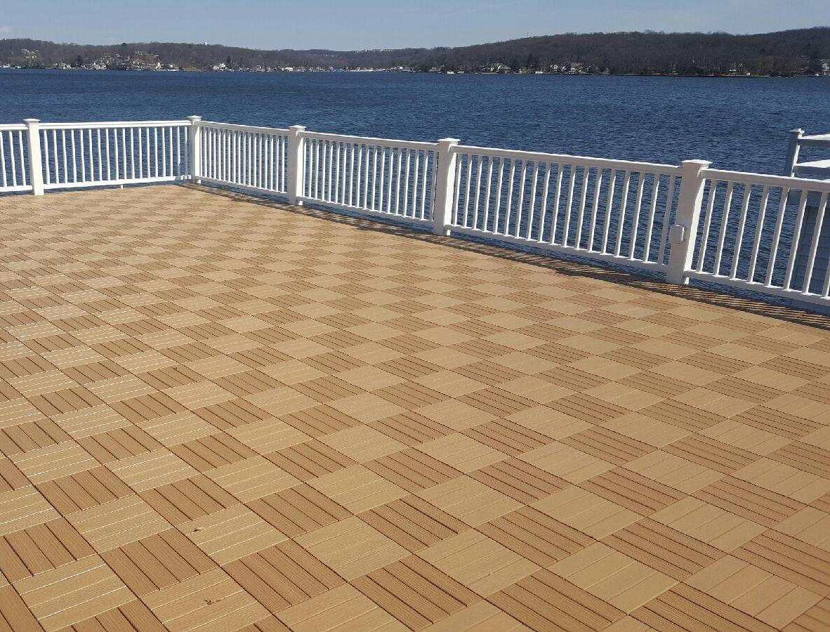 Composite Deck Tiles Showcase Weatherstone Composite Deck Tiles Coverdeck Systems