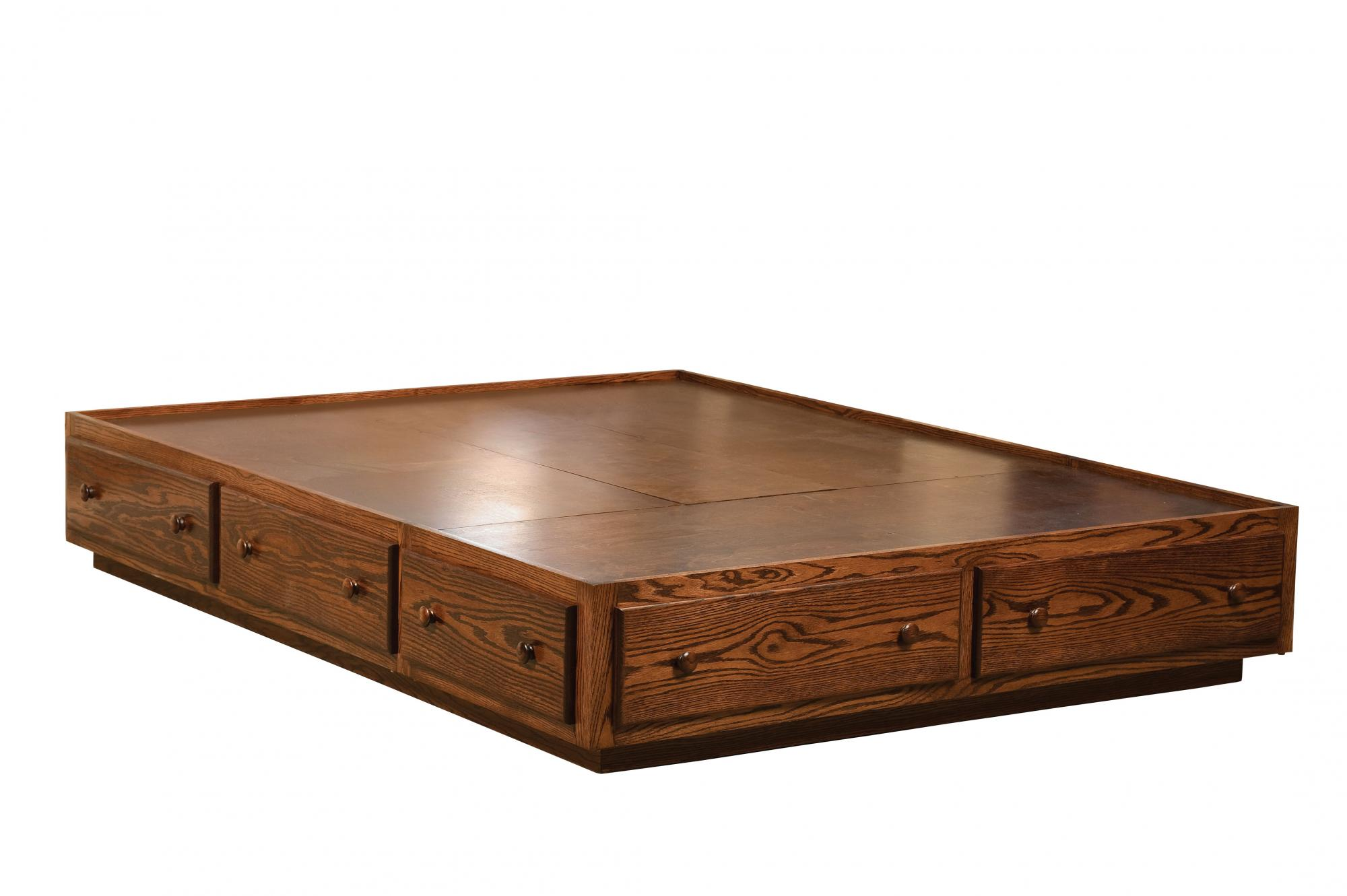 Platform Bed with Toe Kick