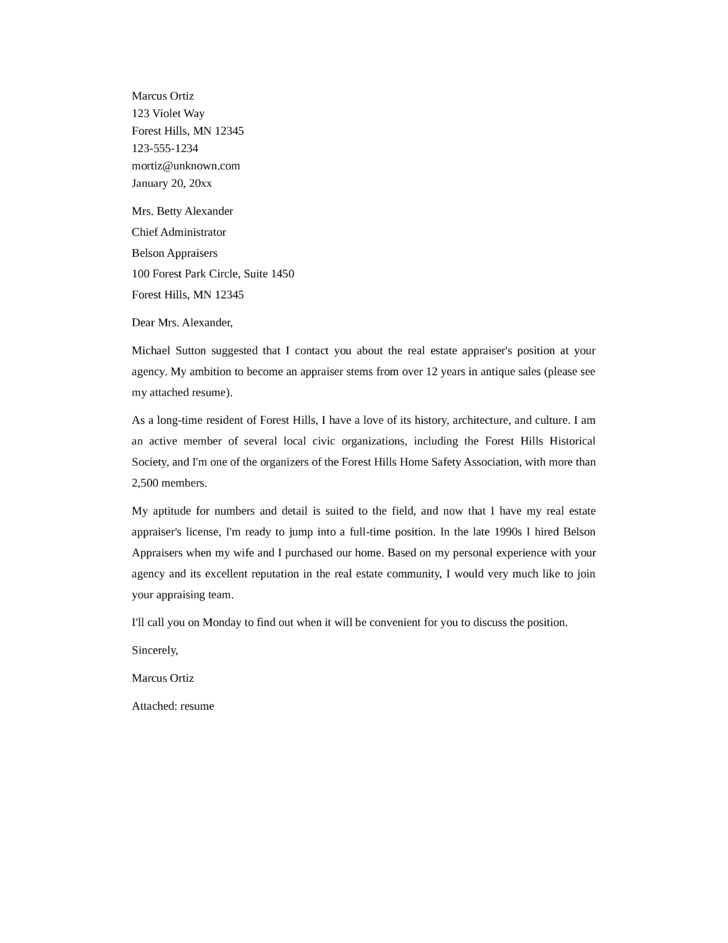 Real Estate Cover Letter - Costumepartyrun
